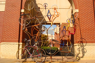 Bike Rack by Scott Scarboro in Downtown Louisville