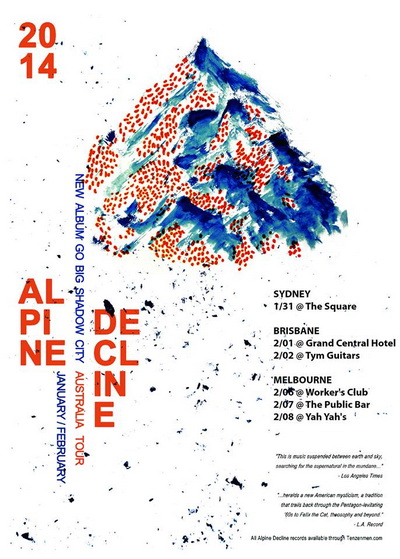 Alpine Decline gig poster from 31 January 2014