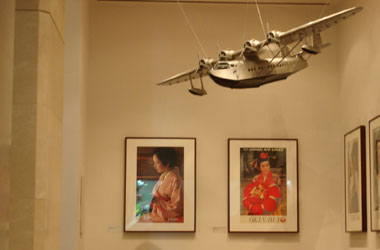 Japan Airlines posters with Pan American Airways Sikorsky S-42 model