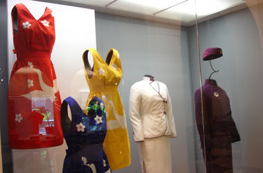 JAL stewardess uniforms over the years