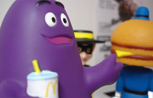 Grimace as a bobble head