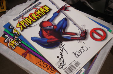 double signed copy of Ultimate Spider-Man #1 (rare white cover)